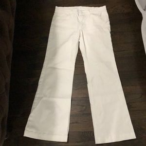 7 for all Mankind, white wide leg jeans